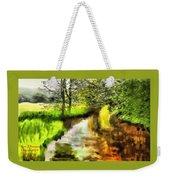 Expressionist Riverside Scene L A Weekender Tote Bag