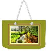 Expressionist Riverside Scene L A With Alt. Decorative Printed Frame. Weekender Tote Bag