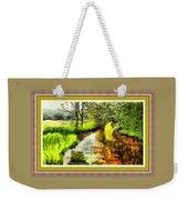 Expressionist Riverside Scene L B With Alt. Decorative Printed Frame.  Weekender Tote Bag