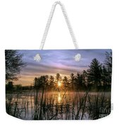 Exquisite Sunrise On The Androscoggin River 2 Weekender Tote Bag
