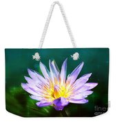 Exquisite Waterlily Weekender Tote Bag