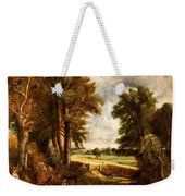 Extensive Landscape With Boy Drinking Water Weekender Tote Bag