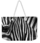 Extreme Close Up Of A Zebra Weekender Tote Bag