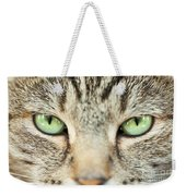 Extreme Close Up Tabby Cat Weekender Tote Bag