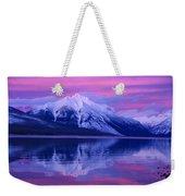 Extreme Sunset On Lake Mcdonald Weekender Tote Bag