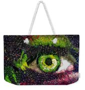 Eye And Butterflly Vegged Out Weekender Tote Bag