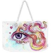 Eye Fish Surreal Betta Weekender Tote Bag