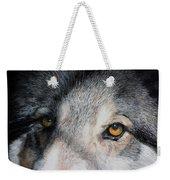 Eyes Of The Wolf Dog Weekender Tote Bag
