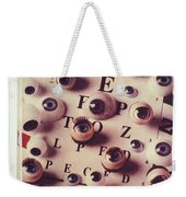 Eyes On Eye Chart Weekender Tote Bag