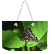 Eyespots On The Closed Wings Of A Blue Morpho Butterfly Weekender Tote Bag
