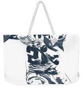 Ezekiel Elliott Dallas Cowboys Pixel Art 3 Weekender Tote Bag
