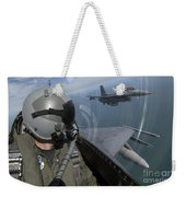 F-16 Fighting Falcons Flying Weekender Tote Bag