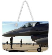 F-16 Fighting Falcons Parked Weekender Tote Bag by Stocktrek Images