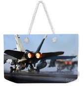 F 18 Hornet-aircraftcarriers Weekender Tote Bag