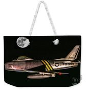 F-86 And The Moon Weekender Tote Bag