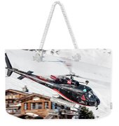 F-gsdg Eurocopter As350 Helicopter Courchevel Weekender Tote Bag