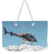 F-gsdg Eurocopter As350 Helicopter Over Mountain Weekender Tote Bag