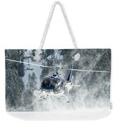 F-hana Eurocopter Ec-130 Landing Helicopter At Courchevel Weekender Tote Bag