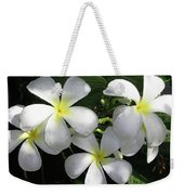 F1 Plumeria Frangipani Flowers Hawaii Weekender Tote Bag