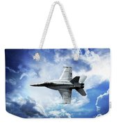 F18 Fighter Jet Weekender Tote Bag by Aaron Berg