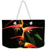 F19 Heliconia Flowers Hawaii Weekender Tote Bag