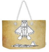 F22 Raptor Blueprint Weekender Tote Bag
