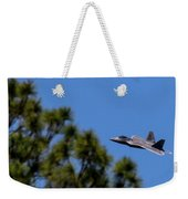 F22 Raptor Flying Low Weekender Tote Bag