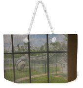 Prison Yard With Razor Wire, Guard House And Satellite Dish Weekender Tote Bag