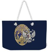 Faberge Tsarevich Egg With Surprise On Blue Velvet Weekender Tote Bag