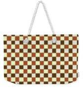 Fabric Design Mushroom Checkerboard Abstract #2 Weekender Tote Bag