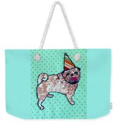 Fabric Pug Weekender Tote Bag