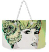 Face - Use Red-cyan 3d Glasses Weekender Tote Bag