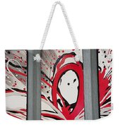 Face In Space I I Weekender Tote Bag