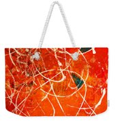 Face In The Mirror Abstract Painting Weekender Tote Bag