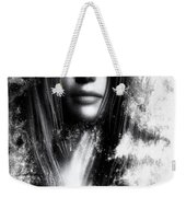Face In The Mirror Weekender Tote Bag