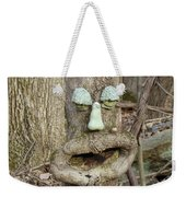 Face In The Woods Weekender Tote Bag