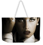 Face Of Dark Fashion Weekender Tote Bag