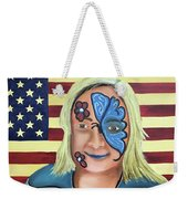 Face Paint And Freedom Weekender Tote Bag