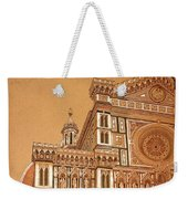 Faced Of Florence Cathedral  Weekender Tote Bag