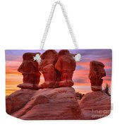 Faces And Fire Weekender Tote Bag