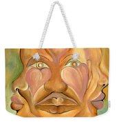 Faces Of Copulation Weekender Tote Bag by Ikahl Beckford