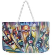 Facial Expression Colorful Weekender Tote Bag