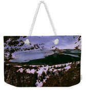 Facinating American Landscape   Snow Mountains Mini Lakes Winter Storms Welcome Trips To Nature Weekender Tote Bag