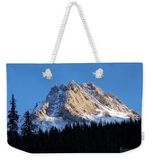 Fading Afternoon Sun Illuminates Mountain Peak  Weekender Tote Bag