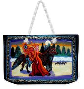 Faerie And Wolf Weekender Tote Bag by Genevieve Esson