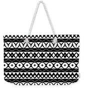 Fair Isle Black And White Weekender Tote Bag