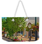 Fairhope Ave With Clock Looking North Up Section Street Weekender Tote Bag