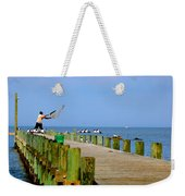 Fairhope Fisherman With Cast Net Weekender Tote Bag