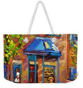 Fairmount Bagel Fairmount Street Montreal Weekender Tote Bag