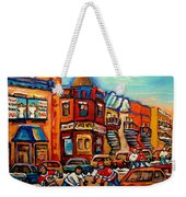 Fairmount Bagel With Hockey Weekender Tote Bag